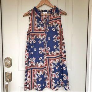 Umgee floral sleeveless BoHo dress